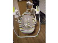 Baby swinging chair with remote control