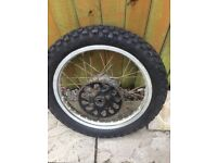 Mtx 125 rear wheel and tyre