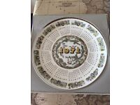 Collection of Wedgewood Calendar plates 1971 - 2000