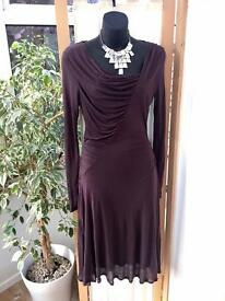 Beautiful Burgundy/Brown Jigsaw dress Size 10