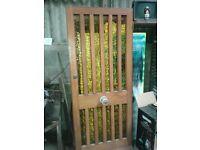 HARDWOOD PORTCULAS EXTERNAL DOOR