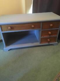 Solid pine painted tv cabinet