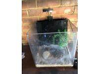 30L Acrylic Aquarium Fish tank with LED filter Heater