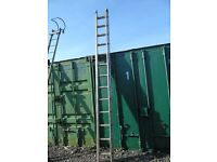 a pair of double ladders 13ft each ladder used in good condition