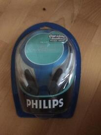 Philips Durable headband HL145 bass beat vents new unopened