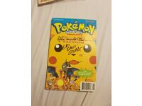 Limited edition signed pokemon first movie animated comic