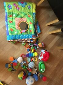 Bundle baby and toddler toys and mat