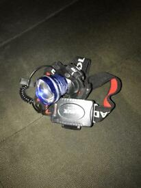 Laser head torch carp fishing