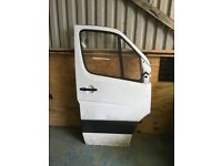 Mercedes sprinter drivers side front door good condition fits 2006 onwards