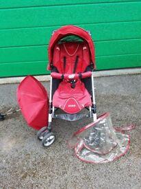 Loola 4 wheel push chair with Hood, Umbarela, Rain cover Hand/safety rail Good condition Dont Miss