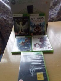 XBOX 360 ELITE 120GB WITH 5 GAMES FOR SALE