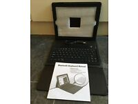 iPad Deluxe Cover with Keyboard, Bluetooth Enabled, new