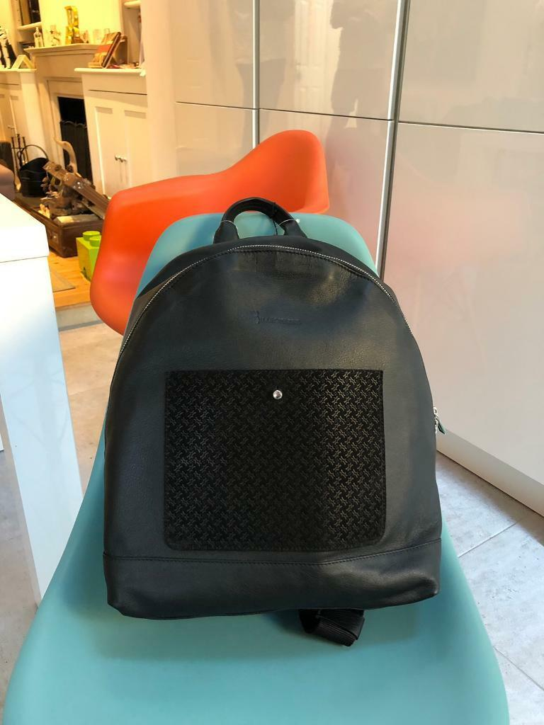 0acce9e6124322 Billionaire black men s leather backpack