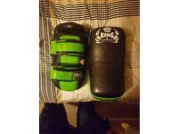 Thai/kick boxing pads and boxing gloves