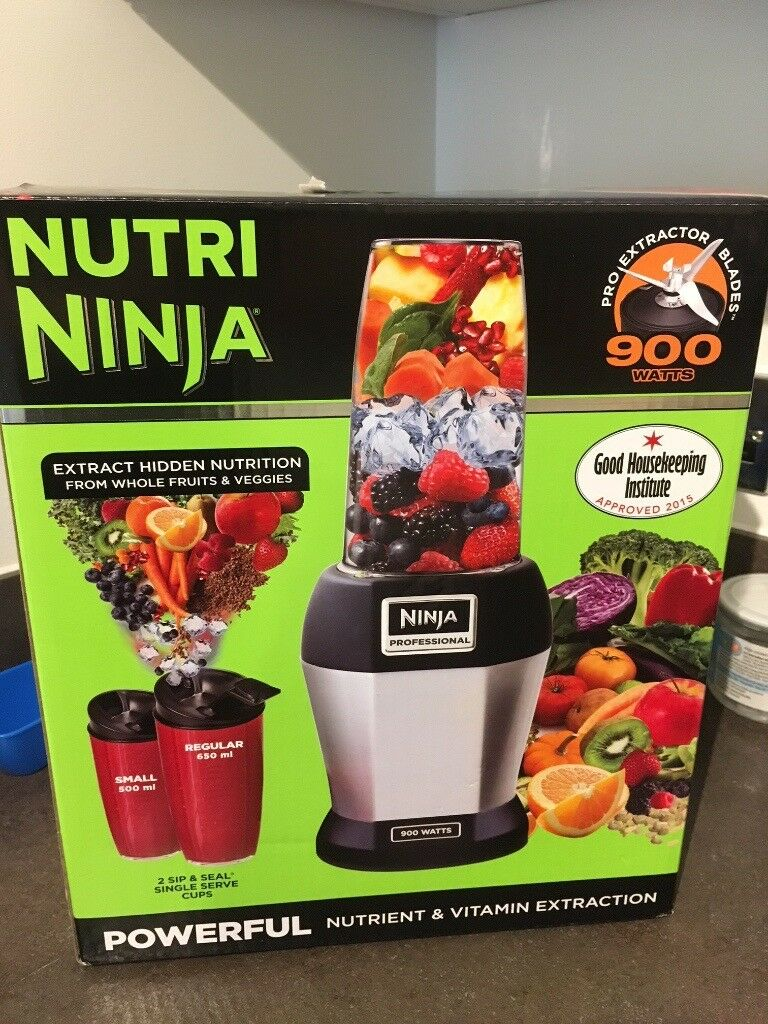 Nutri Ninja Professional Bullet Blender, 900 WATTS, powerful nutrientvitamin extractionin Islington, London - Condition works perfectly, and clean. All wrapped up in original packaging. Pickup next to old street station (London) Payment cash only, no old bills please Feel free if you have any questions