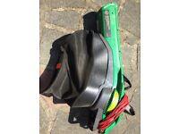 Garden leaf vacuum/shredder