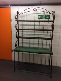 Handcrafted Iron Dresser with painted green wooden top