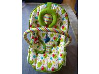 Mothercare owls bouncy chair with vibrate function - £10