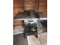 "10"" table saw (Powercraft) with spare blade"