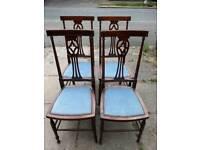 4 Edwardian chairs