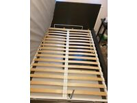 Ikea Malm double bed with storage in Black