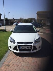 62 plate white Ford Focus, low mileage