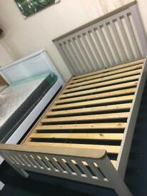 Grey and oak Bed New sale