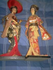 RARE X2 GAISHER FIGURES 15 INCHES HIGH 80 +YEARS OLD