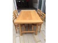 Habitat beech extendable table with chairs