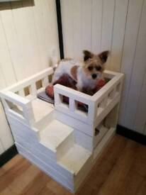 Rustic style Mutlistory dog bed