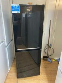 Beko half and half fridge freezer in black