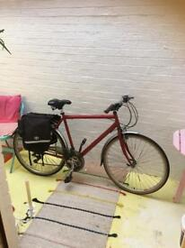 Women's red Road bicycle