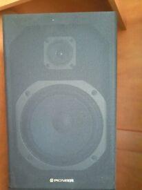 Orginal 2x Pioneer speakers, Black Wood Effect, vintage