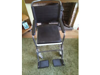Drive Medical Glideabout Commode Chair with 4 Swivelling Wheels