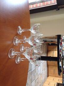 Chrystal cut glass Sherry Glasses (new)