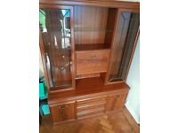 Glass and wooden cabinet