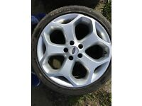 FORD FOCUS ST 225 ALLOY WHEELS 225/40Z/R18 WITH GOOD TYRES WILL FIT TRANSIT CONNECT MONDEO CMAX