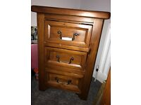 Suite of pine bedroom furniture