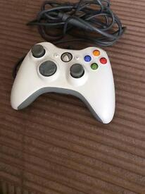 Xbox 360 steering wheel, peddles and controler