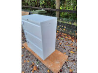 Silverline 3 Drawer Wide Filing Cabinet in White