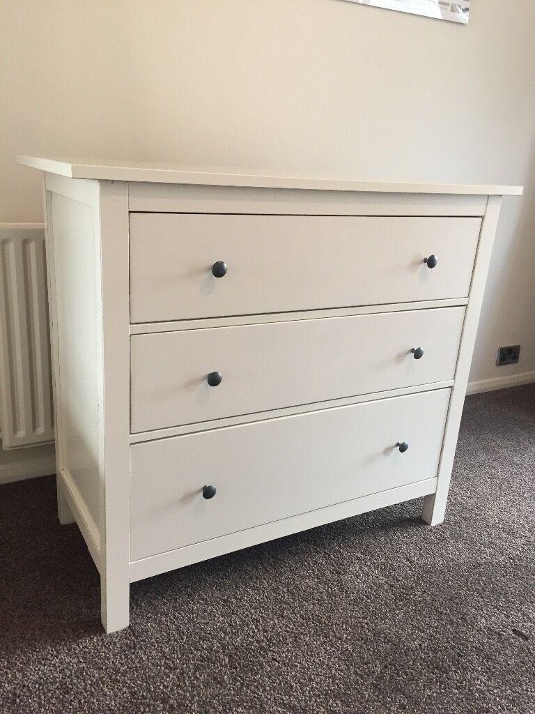 Ikea Hemnes White 3 Chest Of Drawers In Sevenoaks Kent Gumtree