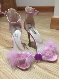 Pink Fluffy High Heels