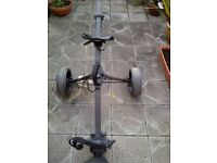 Golf trolley and carrying bag for sale