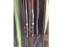 CARP SET UP (2 rods a spod rod 2 reels and 6 rod carryall)