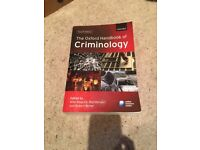 The Oxford Handbook of Criminology 4th Edition - Like New