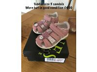 Size 5 & 6 girls toddler sandals