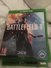 3 Xbox one games battlefield1 2 others
