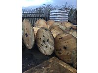 Cable drums /reels wooden various sizes from 700mm to 1600mm diameter can deLiver locally for a fee