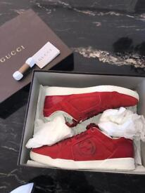 Gucci Rebound Sneakers - Red/Suede ((Rare))