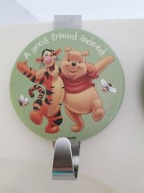 Two Winnie The Pooh and Tigger overdoor hooks